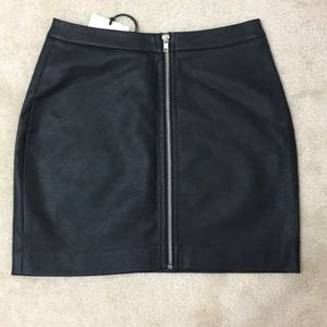 BB Dakota Faux Leather Mini Skirt
